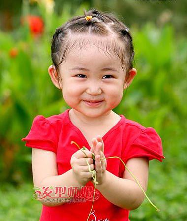 样给小孩子扎短头发 儿童扎短头发的各种花样图片