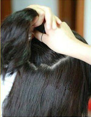 短发怎样扎包包头 短发包包头的扎法图片