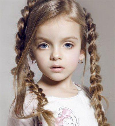 2016儿童发型绑扎方法 儿童发型中发(3)