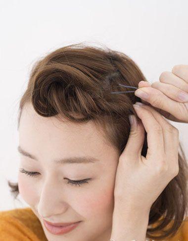 经典刘海编发发型 齐肩短发简单编发发型(4)