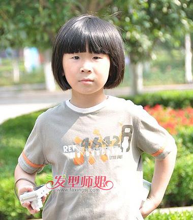 小学生女生短发发型 小学生发型图片大全