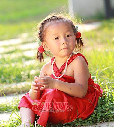 发型diy 编发 >> 各种女童编头发图片 简单小女孩编头发图解  编发