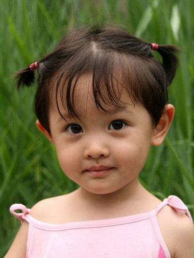 小女孩扎发发型 女宝宝短发扎发发型图片图片