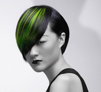 女生短发挑染发型 短发时尚挑染发型图片图片
