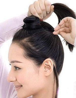上班族长直发怎样扎 上班族女士怎么扎头发好看(2)图片