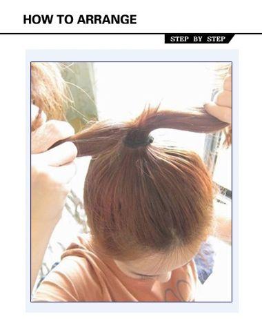 中长直发怎么扎丸子头 中长直发丸子头的扎法图解图片