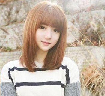 齐刘海直发适合染什么颜色 齐刘海直发染色发型图片