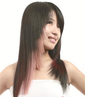 长直发挑染什么色好看 长直发适合染什么颜色(4)_发型图片