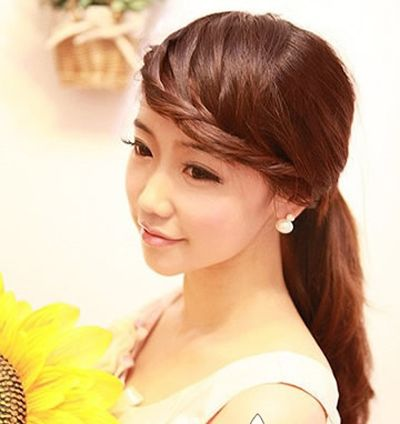 女生刘海编发发型 女生长发编发发型图片图片
