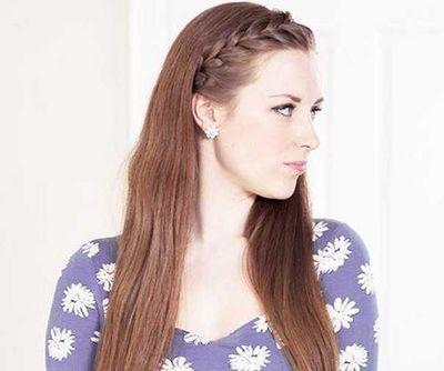 女生刘海编发发型 女生长发编发发型图片 3 发型师姐