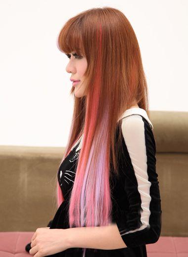 直发适合染什么颜色 直发发尾挑染(3)_发型师姐图片