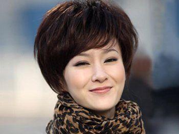 四十岁女人圆脸什么发型好 40岁女人圆脸发型图片(2)