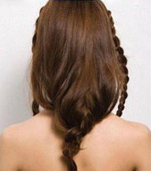 女生学编头发发型图解 适合长脸的长发编头发发型(2)图片