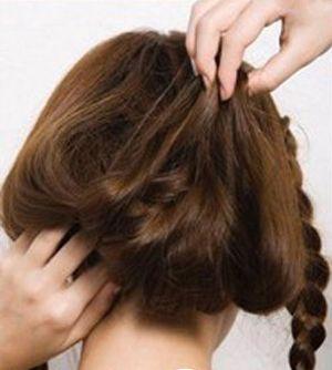 女生学编头发发型图解 适合长脸的长发编头发发型(4)