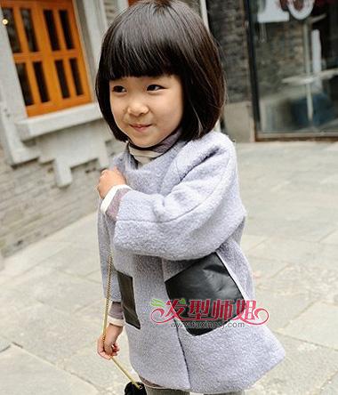 小学生胖圆脸适合的波波头 胖脸小女孩波波头图片图片