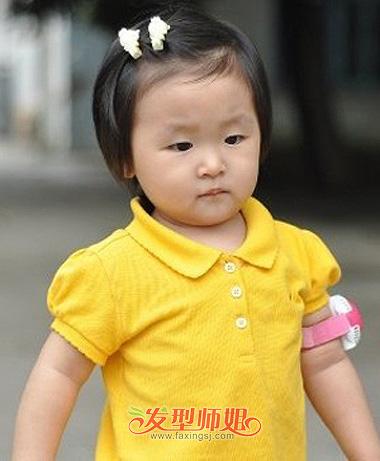 儿童发型扎法视频_儿童发型设计之短头发扎法 儿童短发扎法步骤(3)_发型师姐
