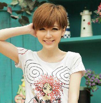 2016圆脸女生流行短发发型 圆脸女士发型短发设计(4)
