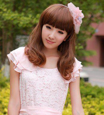 齐刘海内扣梨花头发型-长脸女孩适合梨花头发型吗 适合长脸的内扣梨图片