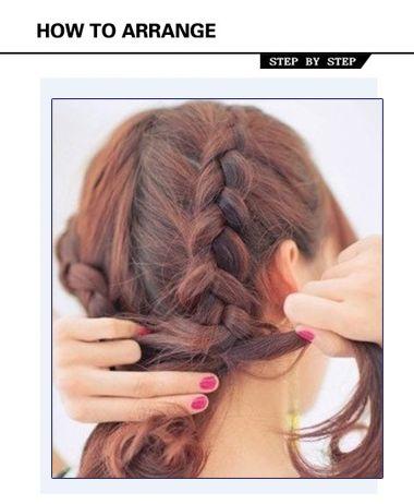 女生发型绑扎图片 学习女生盘发发型步骤图片