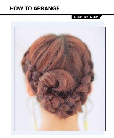 女生发型绑扎图片 学习女生盘发发型步骤(4)