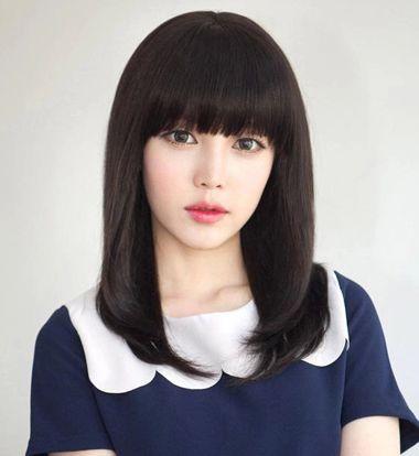 黑色梨花头烫发 16年最新梨花头发型(2)图片