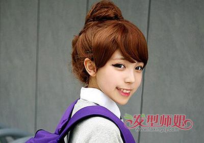 大斜刘海发型 斜刘海直发中发发型扎法(2)图片