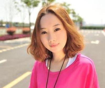 中长发梨花头 圆脸梨花头发型图片 4
