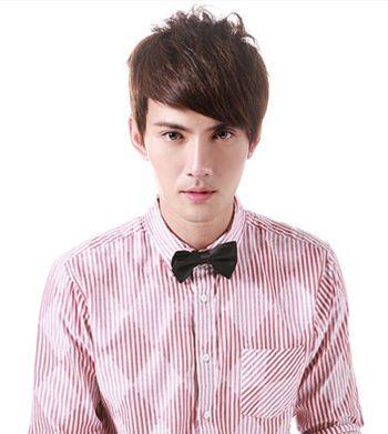 男生短发斜刘海发型 男生斜刘海短发发型图片 发型师姐