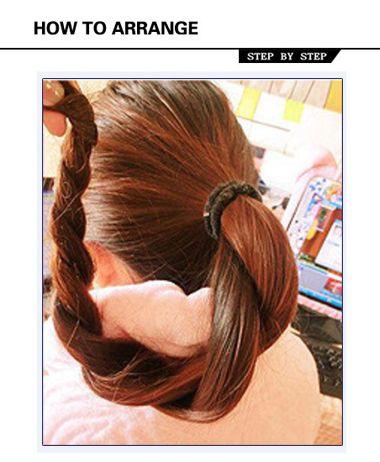头发怎样扎丸子头 女生丸子头扎法图解(2)