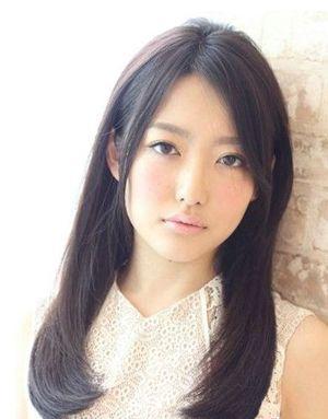 斜刘海中长发发型 女生斜刘海发型大全