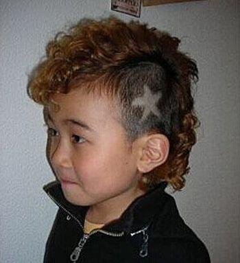 男宝宝烫头造型 最新男宝宝烫发发型图片(2)