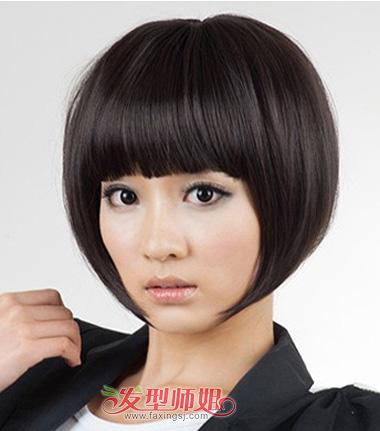 女生沙宣纹理烫发型图 学生头短发纹理烫发型图(4)图片