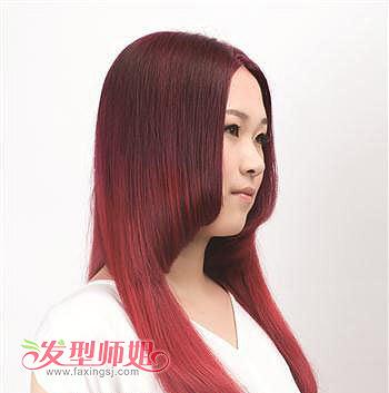 最新流行的圆脸发型 圆脸中分刘海直发发型图片(4)