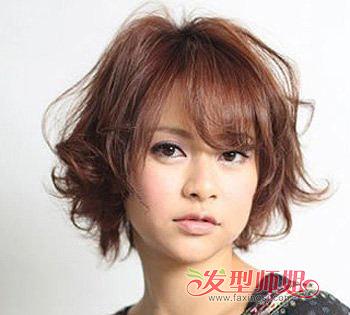 流行发型 刘海 >> 方形脸的女生适合什么刘海 方形脸适合的刘海图片