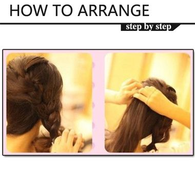 中长发马尾发型扎法步骤 简单的中长发马尾发型扎法图片
