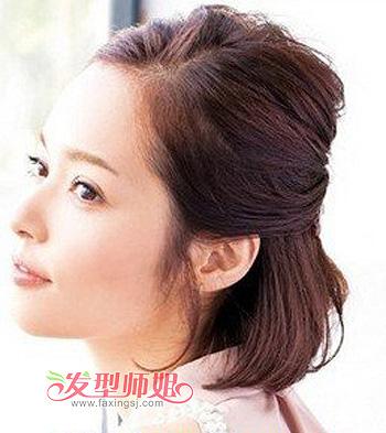 发型diy 短发扎发 >> bobo头怎么扎头发 学生清爽bobo头扎发发型(2)