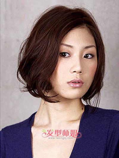 中年圆脸女人适合什么样的发型(图片) 中年圆脸盘发发型图片图片