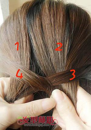 四股麻花辫子的编法_四股鱼尾辫详细编发教程 鱼尾辫的编法步骤(2)_发型师姐