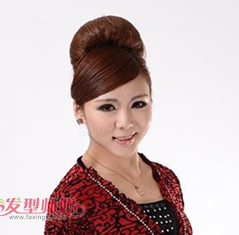 方型脸适合盘发吗 韩国方脸中年妇女盘发发型(2)