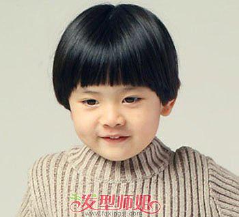 儿童蘑菇头短发图片 儿童蘑菇头短发发型(2)