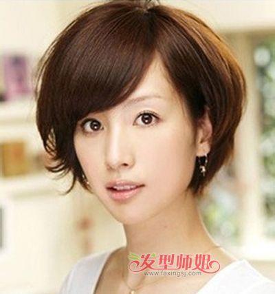 发型烫头女孩发型纹理小女孩齐刘海扎发图片图片