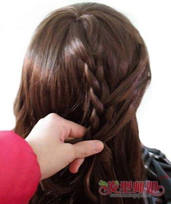 蜈蚣编辫子发型方法图解