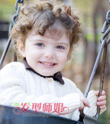 幼儿短蘑菇头发发型图片