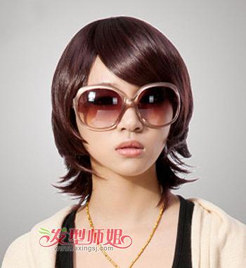 包包头短发图片 包包头短发烫发发型图片