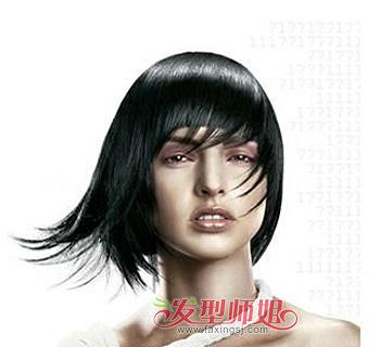 适合大脸女生的沙宣短发 大脸小眼睛沙宣短发图片 发型师姐