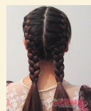 简单的蝎子辫发型图片 蝎子发型扎法图解(3)图片