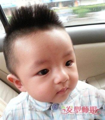 1-2岁男宝宝流行发型 男宝宝短发发型图片(2)图片