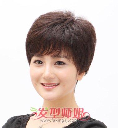 中年 圆脸短发发型推荐,找找你的中年发型是哪款吧~ 中年人适合什么样