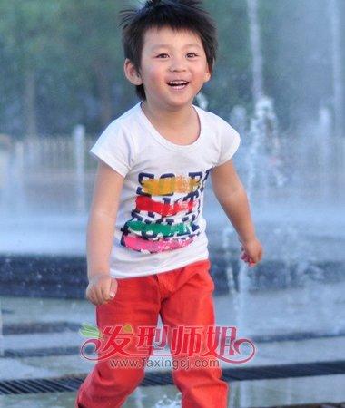 4岁男孩的超酷发型 4岁韩国男孩发型 发型师姐