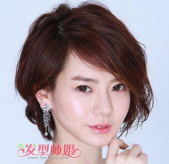 脸盘大的女生可以剪不对称短发吗 适合大脸盘的短发发型图片(5)